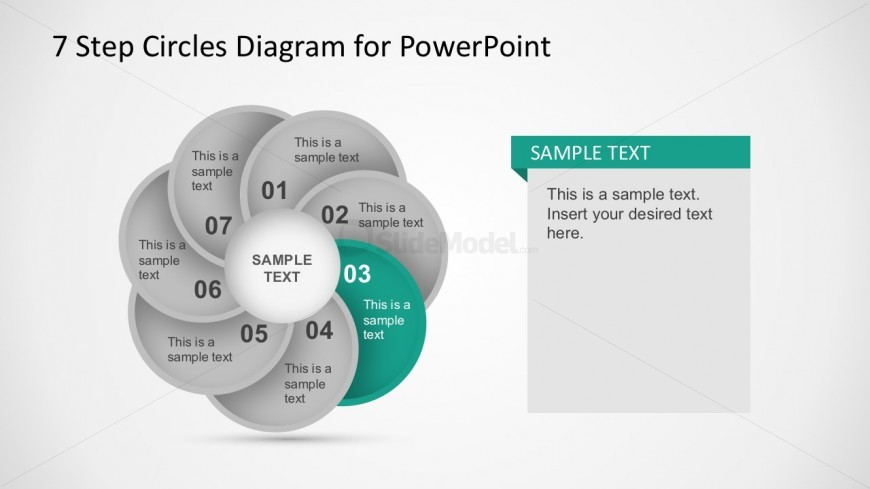 7 Circular Steps Digram With Editable PowerPoint Parts