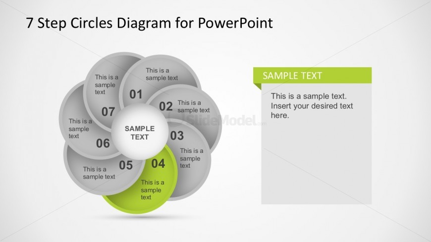 7 Steps Circle Diagram Business PowerPoint Template