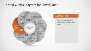 Flower Style Circular Diagram Business PowerPoint