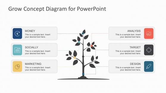 Business Growth Strategy Diagrams PowerPoint Template