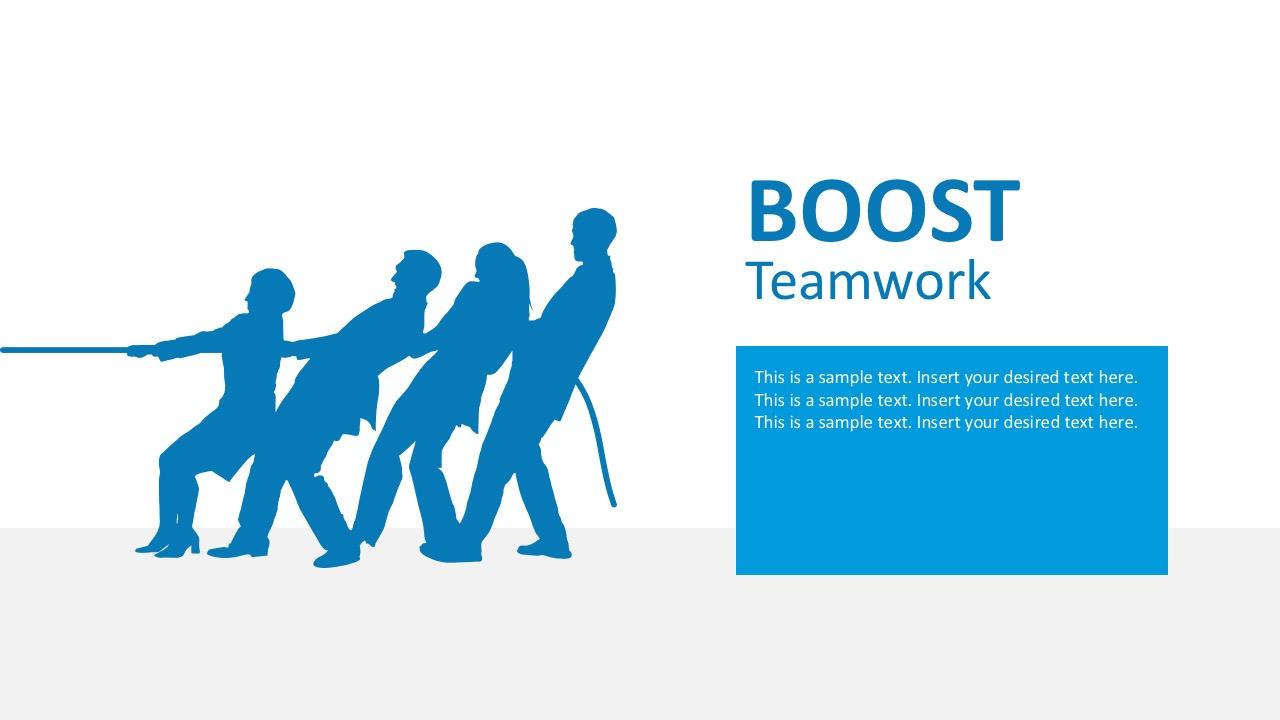 Teamwork Slide Design X on Pie Chart Color Palette