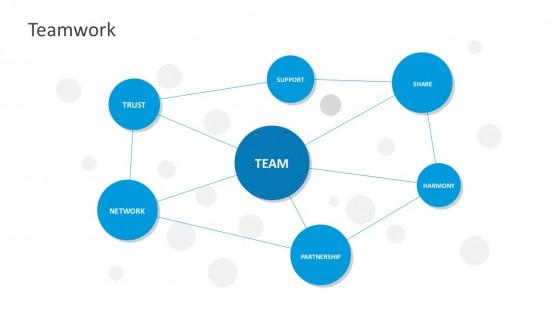 Teamwork Spider Web Chart PowerPoint Templates