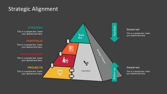 4 Steps Strategic Pyramid Model PowerPoint