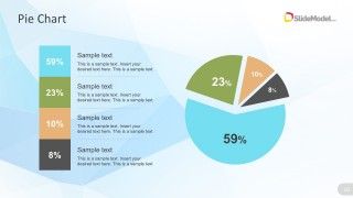 Circular Percentage Chart PowerPoint Graphics