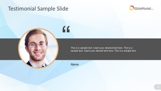 Customer Review Slide Design For PowerPoint