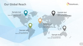 Business Centers  Global Map PowerPoint Vectors