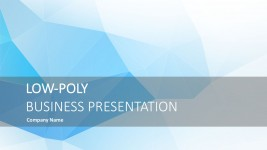 Low Poly Business PowerPoint Visualization
