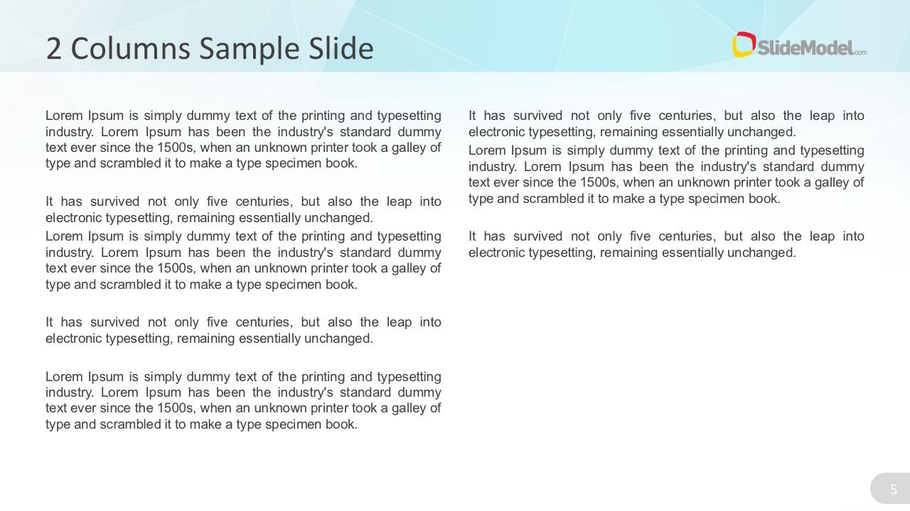 Editable Text Column PowePoint Slides