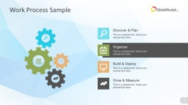 Four Steps Work Process Plan For Business PowerPoint