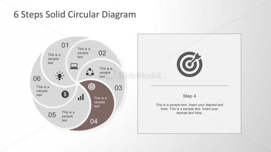 Grey Background Target PowerPoint Icon