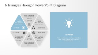 6 Parts Triangle Diagrams With PowerPoint Icons