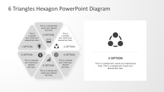 Hexagon Process Diagram PowrPoint Template