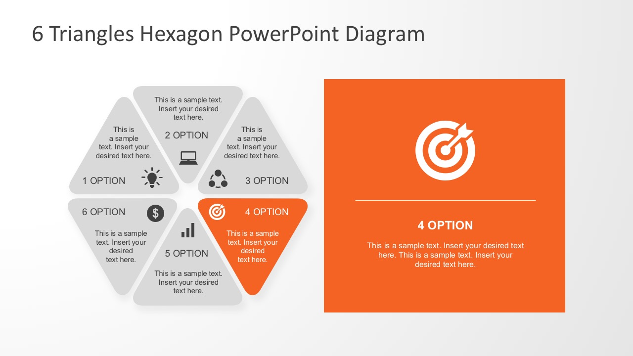 6 segments powerpoint diagram with editable parts