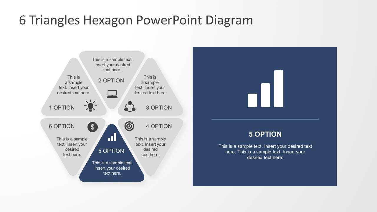 six business steps triangle powerpoint shapes