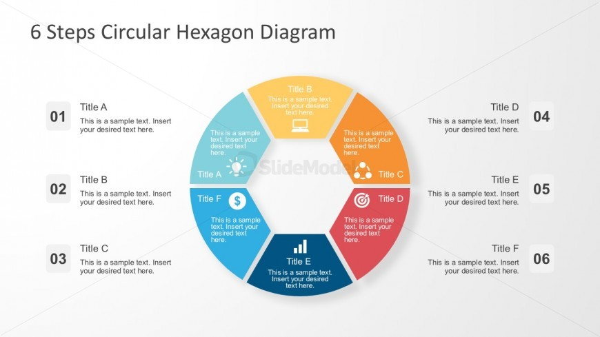 Colorful Circular Chart For PowerPoint Template
