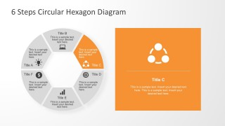 Editable Parts Hexagon Diagram With Cool Shapes