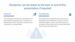 Two Section PowerPoint Disclaimer