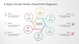 6 Steps Cycle Diagrams For PowerPoint Template