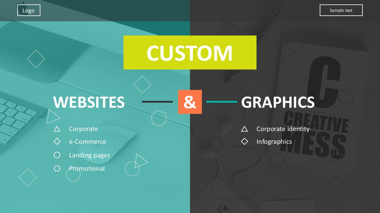 Creative Web Design Cover Slide For PowerPoint