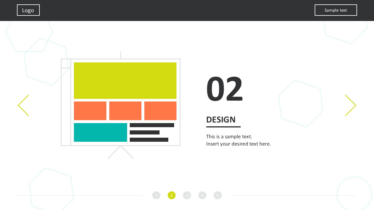 Website Process Templates In Bright Colors Design