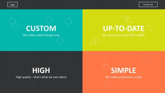 Modern Retro Style Slide Design For PowerPoint
