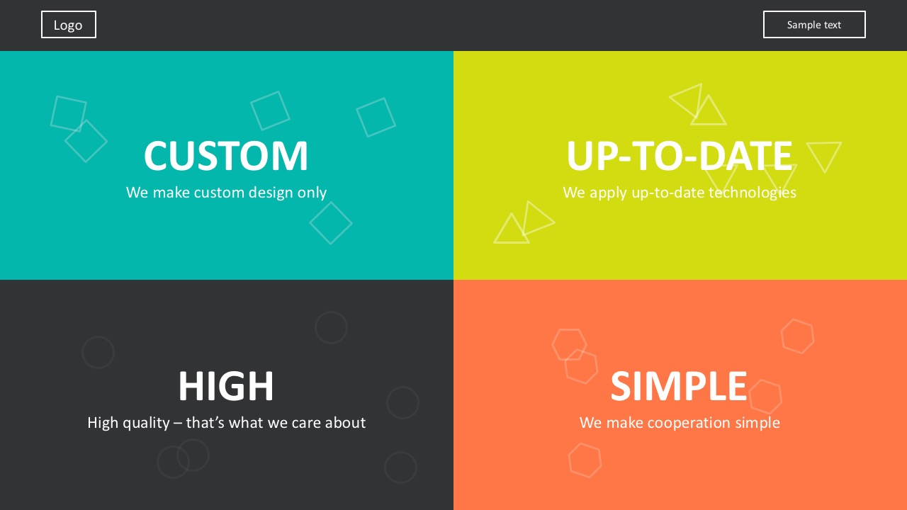 Flat Design Icons Website Development Template