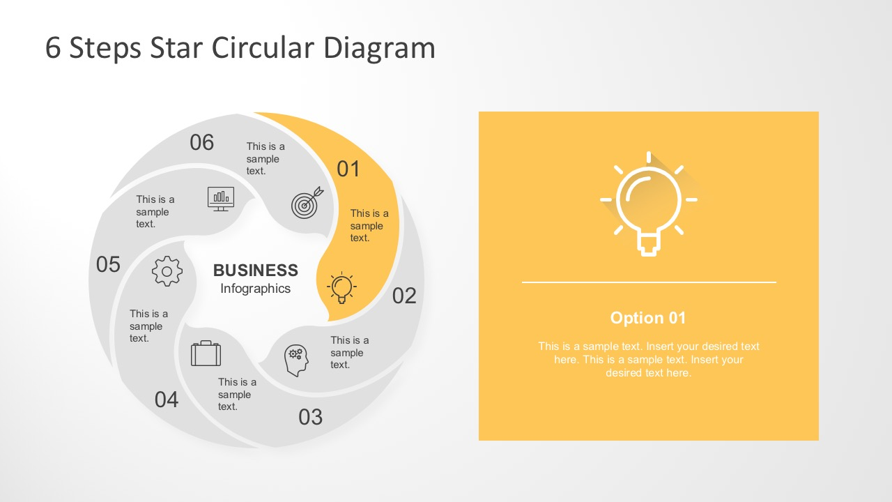 5 Stages Circle Infographics Cover Slide; Motion Diagram PowerPoint With  Cool Icons; Editable 6 Steps Star Circular Diagram ...