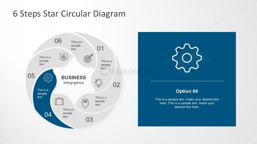 Circle Infographic With 6 Parts for PowerPoint