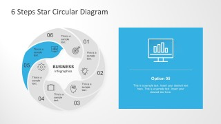 Vector Circle Star Infographic Design Template