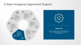 6 Step Flat Cycle Process Diagram For PowerPoint