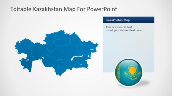 Editable Kazakhstan Map For PowerPoint