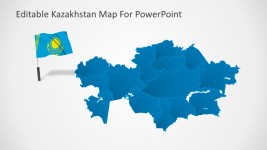 Kazakhstan PowerPoint Presentation With Flag