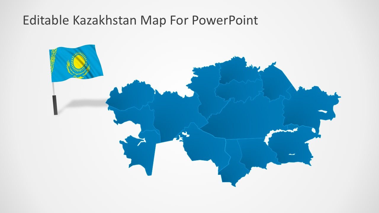 Picture of: Editable Kazakhstan Powerpoint Map