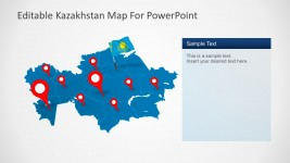 Kazakhstan Map Location Marker PowerPoint