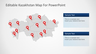 8 Editable PowerPoint Slides of Kazakhstan