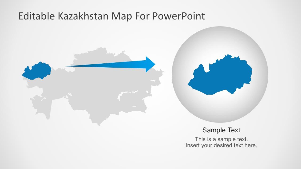 Editable kazakhstan powerpoint map kazakhstan powerpoint template for mac toneelgroepblik Image collections