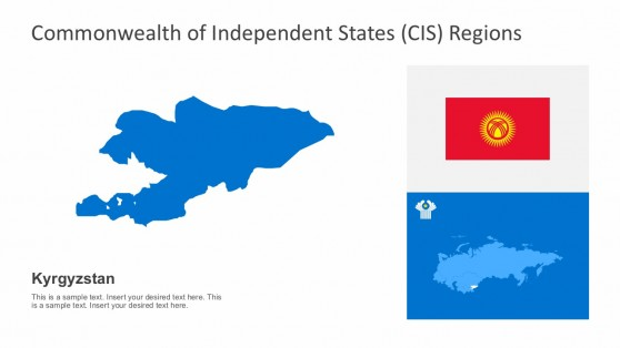 Kyrgyzstan Editable CIS PowerPoint Maps