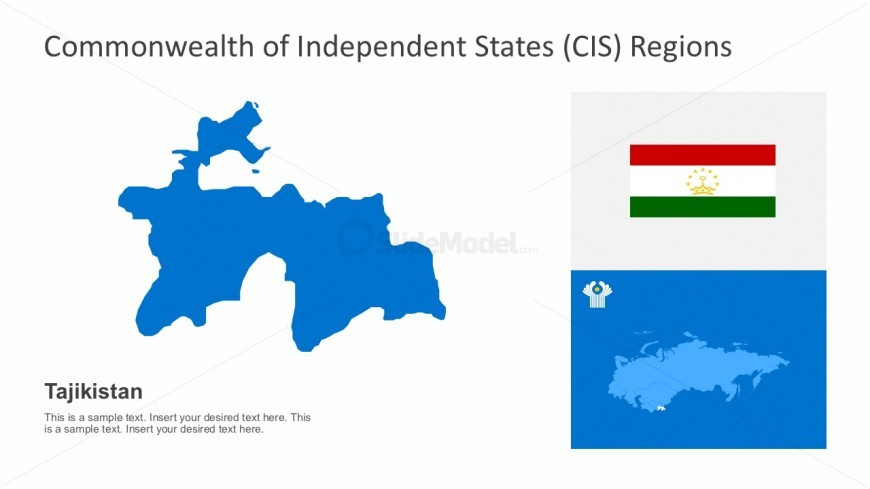 Tajikistan CIS Regional Maps Infographics