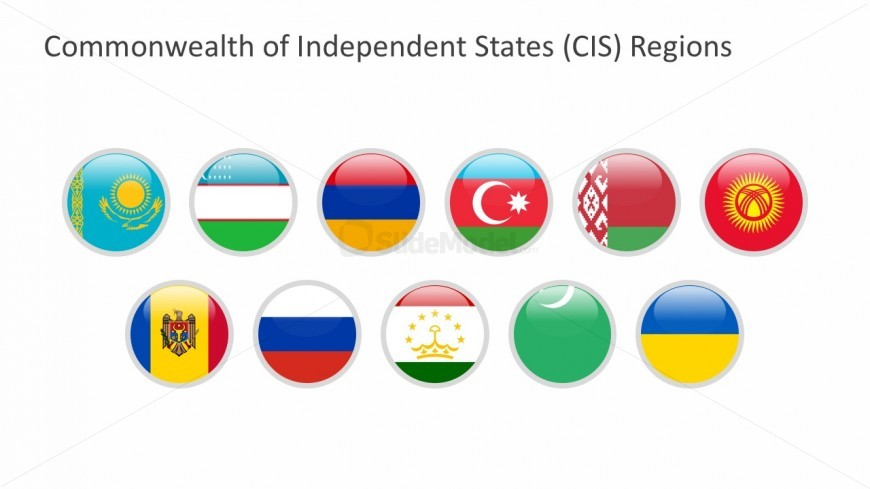PowerPoitn Vectors of Commonwealth of Independent States Flags