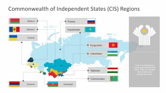 CIS Regional Map PowerPoint Templates