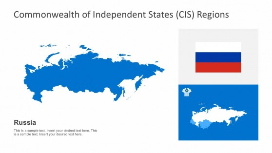 Russia CIS Country Map Template For PowerPoint