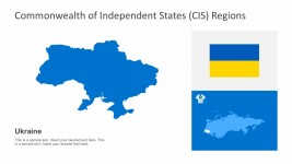 CIS Organization PowerPoint Map of Ukraine