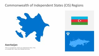 Easy Edit Azerbaijan CIS Political Map