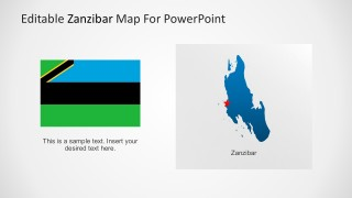 Map of Zanzibar with PowerPoint Flags