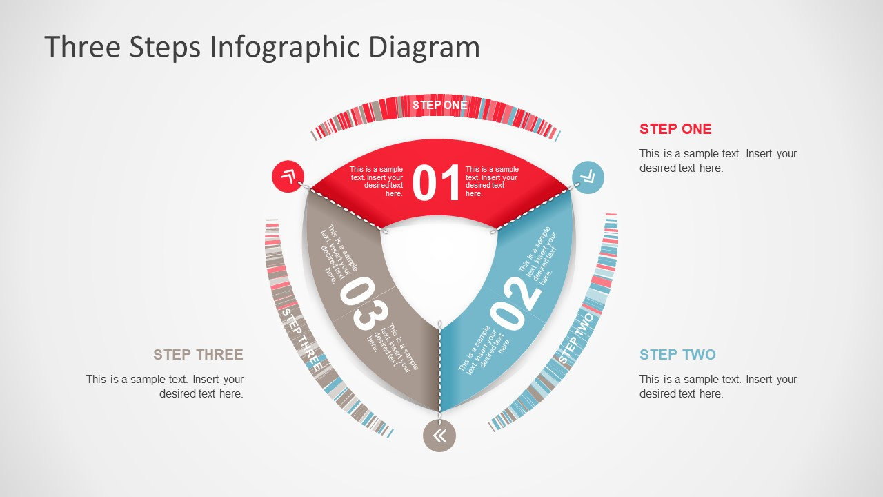 Three steps rounded triangle powerpoint diagram slidemodel rounded triangle shape and diagram ccuart Gallery