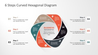 Hexagonal Progress Steps Diagrams for PowerPoint
