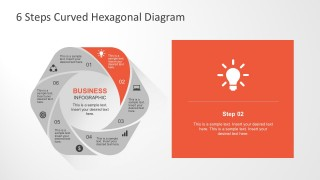 Curved Shapes Steps Diagram for PowerPoint Design