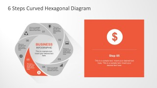 PowerPoint 6 Options Hexagonal Flower Infographic