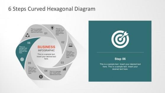 Progress Steps Hexagonal Diagrams for PowerPoint