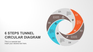6 Steps Tunnel Circular Diagram